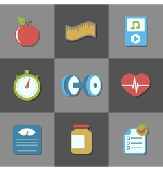 Interface elements for fitness website vector image vector image