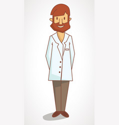 a cartoon flat drawing doctor vector image