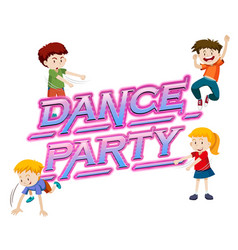 a dance party logo vector image