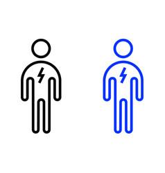 Active man icon vector