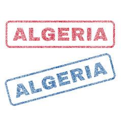 Algeria textile stamps vector