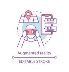 Augmented reality concept icon vector