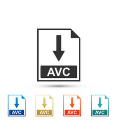 Avc file document icon download avc button icon vector