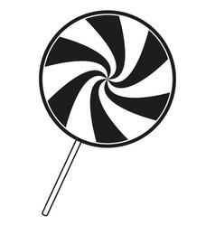 Black and white lollipop silhouette vector
