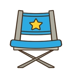Blue chair star director film vector