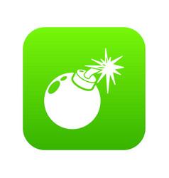 bomb icon simple black style vector image