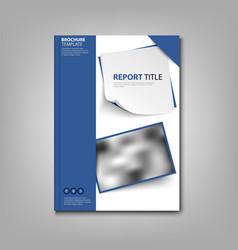 Brochures book or flyer with blue design labels vector
