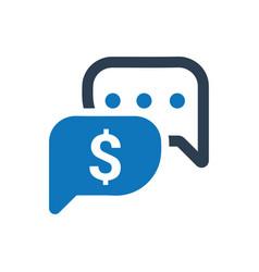 Business conversation icon vector