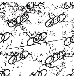 Chain pattern grunge monochrome vector