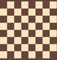 Chess field in beige and brown colors vector