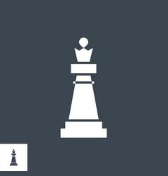 Chess piece queen glyph icon vector