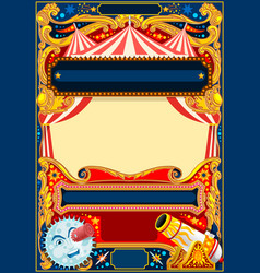 circus frame template vector image