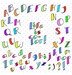 colored funny font vector image
