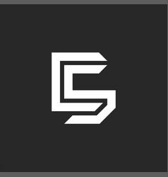 Creative c5 symbol mockup initials two letters sc vector