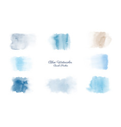 Creative minimalist watercolors hand-painted blue vector