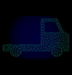 Delivery car chassi polygonal frame mesh vector