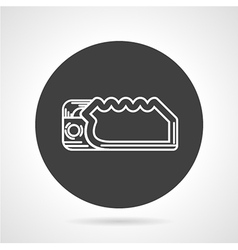 Descender black round icon vector