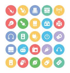 Electronics icons 6 vector image