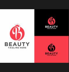 Elegant and luxury beauty letter b logo vector