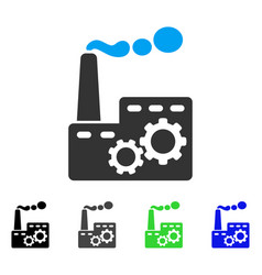 factory building flat icon vector image