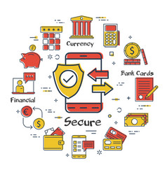 finance and banking safe operations concept vector image
