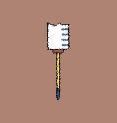 Flat shading style icon medical syringe vector