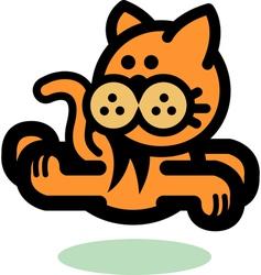 Fun Cartoon cat vector image