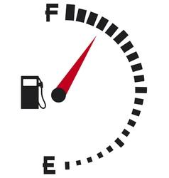 gas gauge-gas tank symbol vector image
