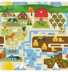 Great city map creatorSeamless pattern map Village vector