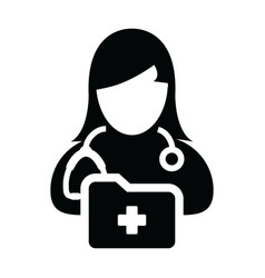 healthcare icon female doctor person profile vector image