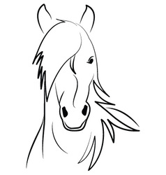 Horse-on-white-background vector