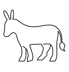 Isolated donkey silhouette design vector