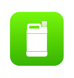 Jerrycan icon digital green vector