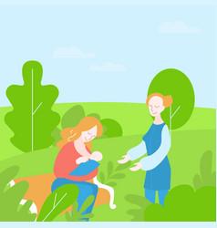 Lactation consultant support breastfeeding vector