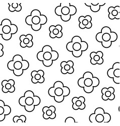 Line beauty flower with exotic petals background vector