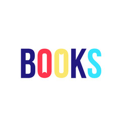 logo for book store logo image is isolated on vector image