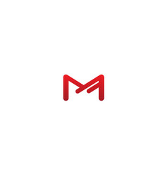 m line initial company logo vector image