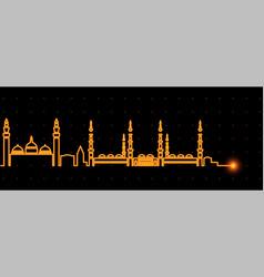 medina light streak skyline vector image