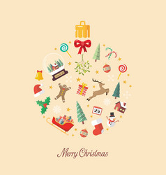 merry christmas ball made decoration elements vector image