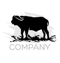 Modern buffalo logo vector
