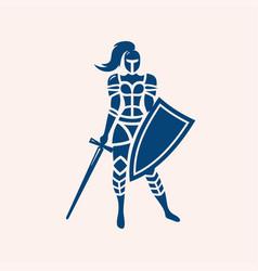 Modern professional logo emblem woman vector