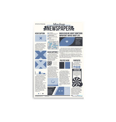 newspaper main page mockup vector image