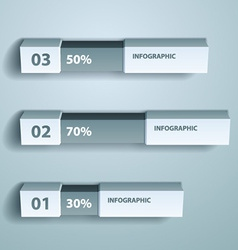 percent infographic chart design template vector image
