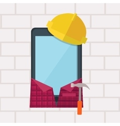 Phone in Working Clothes Design Flat vector image