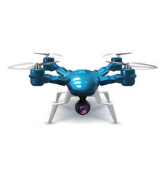 realistic unmanned drone with recording camera vector image