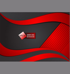 red and black color abstract geometric background vector image