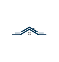 Roof house real estate logo vector