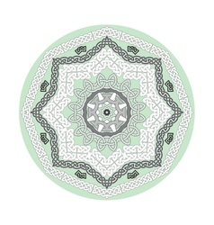 Round ornamental shape celtic patterns vector image