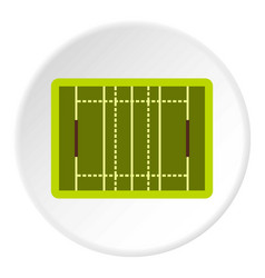rugby sport field icon circle vector image