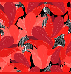 seamless bright pattern red flowers vector image